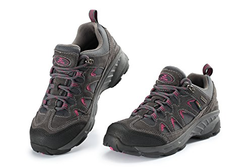 THE FIRST OUTDOOR Women's Breathable Low Waterproof Shock Absorb Hiking Shoes, US 7