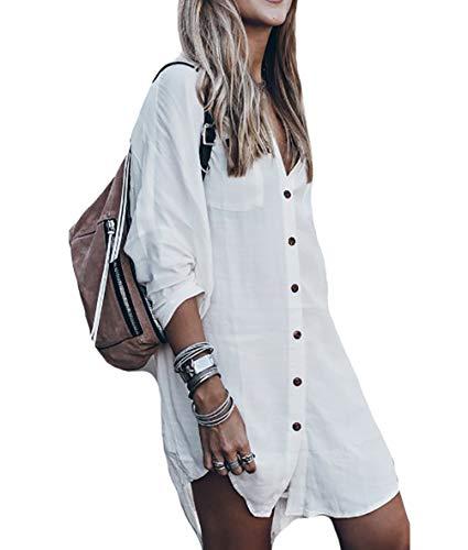 (Bestyou Women's Rayon Caftan Dress Kaftan Cover Up Long Floral Print Kimono Cardigan Capes Beachwear (White F))