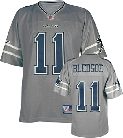 official photos 3d07a dc802 Amazon.com: Drew Bledsoe Dallas Cowboys Silver NFL Premier ...