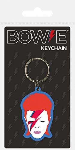 David Bowie Schlüsselanhänger Aladdin Sane 4,5 x 6 cm