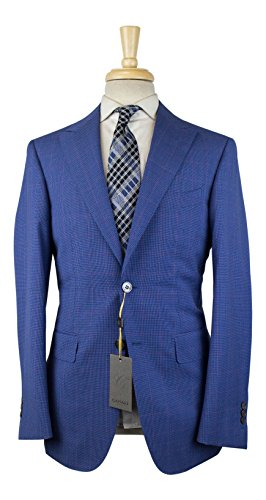 Used, Canali 1934 Blue Houndstooth Wool 2 Button Slim Fit for sale  Delivered anywhere in USA