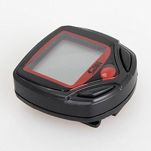 Christmas Hot Sale!!!Bike Speedometer Odometer Kacowpper Waterproof Bike Computer Bicycle Odometer with Large LCD Backlight Digital LCD Display Multi Function