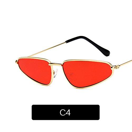 Gafas De Lágrima Bastidor Sol Las Mujer Gafas Forma Sol Sol Para Gafas C6 Pequeño De Famle Retro KLXEB De De Océano En De C4 Mujeres Pasarela Metálica De 5qvtTcw