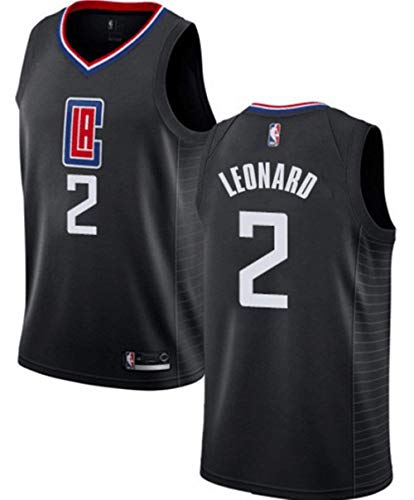 VF LSG Men's Los Angeles Clippers #2 Kawhi Leonard Jersey Black ()