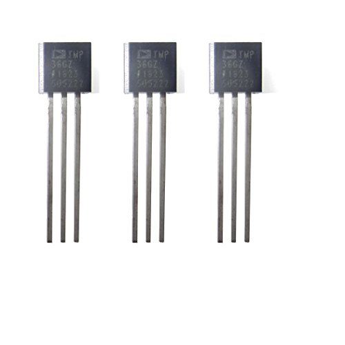 TMP36 Temperature Sensor Tmp36 Temperature Sensor TO-92 Pack of 3 (Analog Sensor Temp)