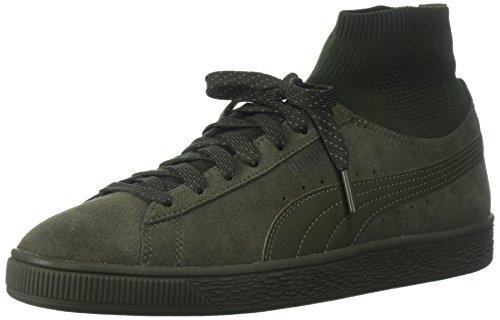 Puma Heren Suede Klassieke Sok Sneaker Olijf Nacht-olijf Nacht
