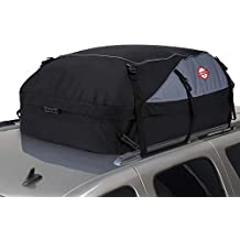 20 Cubic Feet Thickened Car Cargo Roof Bag- Waterproof Universal Soft Rooftop Bag Luggage Carriers for Car with/Without Racks (Renewed)