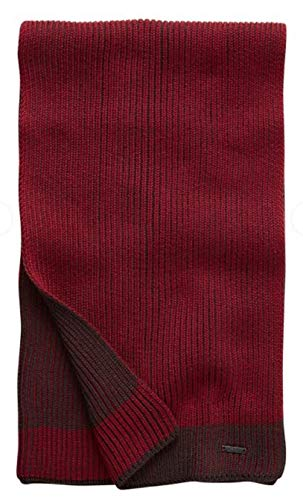 Hugo Boss Knitted scarf in two-tone virgin wool ()