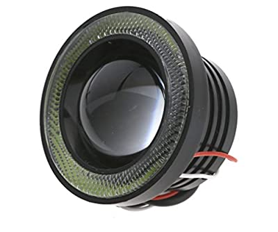 Waterproof 2pcs COB LED Motorcycle Headlight White Angle Eye Light Fog Lamp