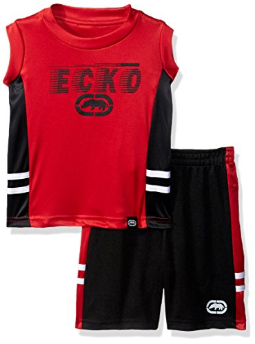 Marc Ecko Baby Boys Interlock Graphic Muscle Tank and Mesh Short Set