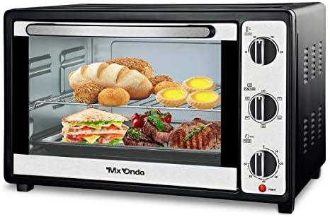 Mx Onda MX-HC2181 Horno de sobremesa con convección 32 litros, 1600 W, 30 litros, Acero Inoxidable, Negro