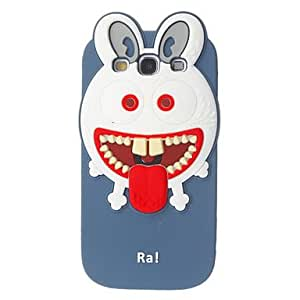 Cartoon Monster Pattern Shape Silicone Gel Soft Back Case Cover for Samsung Galaxy S3 I9300 , Gray