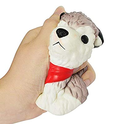 fan pin dian zi Cute Husky Rising Squeeze Toy Slow Rising Squishies Cream Scented Squeeze Kid Toy Phone Charm Gift for Stress Relief: Toys & Games