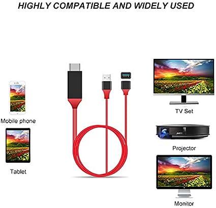 Hicollie - Cable Adaptador para TV 1080p HDMI HDTV AV Universal ...