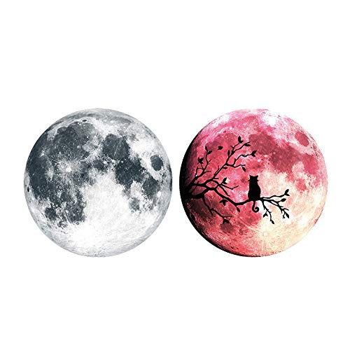 Gessppo Halloween Luminous Wall Sticker DIY Moon Family Home Removable Mural Room for Home Decor Living Room -