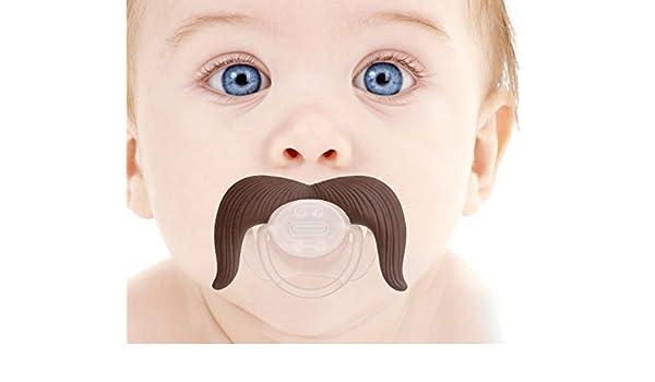 Babypro ?® - Vaquero del bigote de Chupete para el bebé - Bpa ...