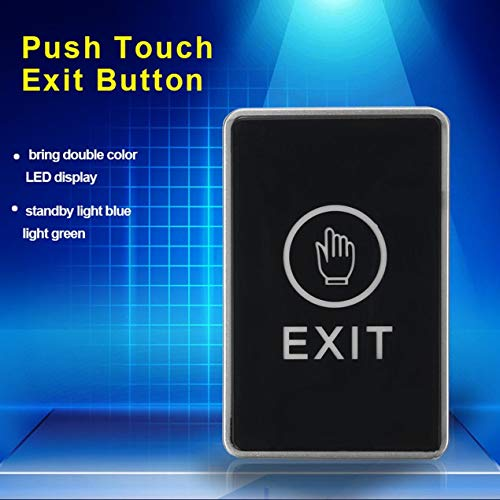 Access control accessories,Push Touch Sensor Exit Button Security Access Control System Door Exit Release Button With LED Indicator Light For Home Office