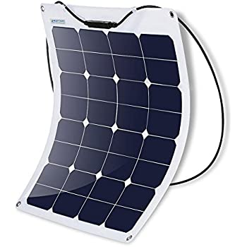 ACOPOWER 50W Flexible Solar Panel, Thin Lightweight Solar Charger on RV Boat Cabin Tent Caravan w MC4 Connector & ETFE For 12V Battery