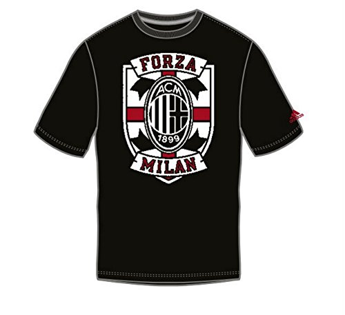(A.C. Milan adidas Cross Chest Performance Black T-shirt Large)