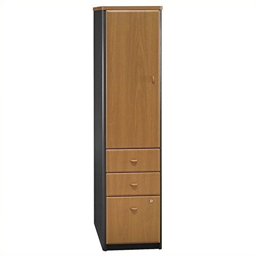 ioneyes furniture series a vertical wood file locker in natural (Elegant Cherry Wood Finish Series)