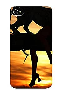 Fashion Protective Animals Cats Dark Horror Scary Creepy Macabre Situations Mood Women Females Girls Manipulationsdigitalart Sunset Sunrise Africa Leopards Case Cover Design For Iphone 4/4s