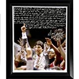 NCAA Framed Canvas - NC State Wolfpack Dereck Whittenburg ''Jimmy V''