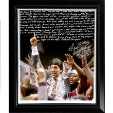 NCAA Framed Canvas - NC State Wolfpack Dereck Whittenburg ''Jimmy V'' by Steiner Sports