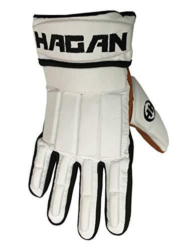 Hagan H-1 Hockey Glove/DEK and Street Hockey (Senior) (White, Large)