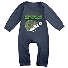 Infant Bodysuit Outfits Hedgehogs Can't Share Funny Fashion Long Sleeve Baby Onesie