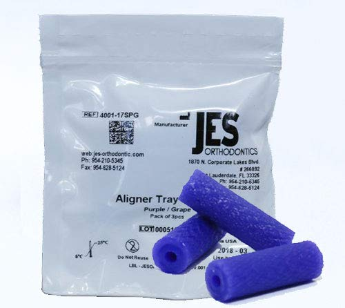 Aligner Chewies for Invisalign Trays - Purple - Grape Scented - 3 Chewies per Bag