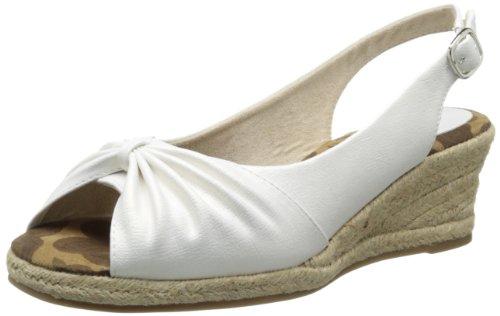 Easy Street Women's Keen II Wedge Sandal,White,7 M US