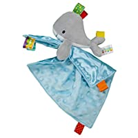 Taggies Whale Plush Security Blanket, Gray/Blue