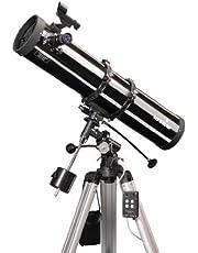 Skywatcher Explorer-130M gemotoriseerde newton telescoop (130 mm (5,1 inch), f/900) met parabolische spiegel, zilver