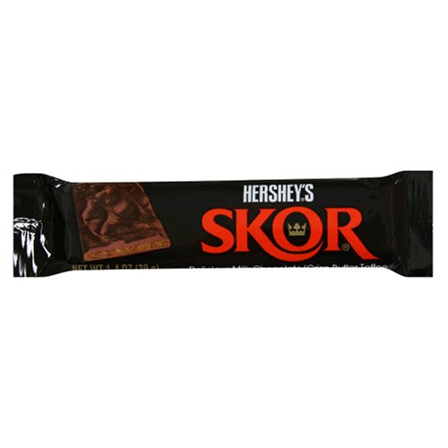 Skor Bar, Milk Chocolate Crisp Butter Toffee, 1.4-Ounce Bars (Pack of - Toffee Skor