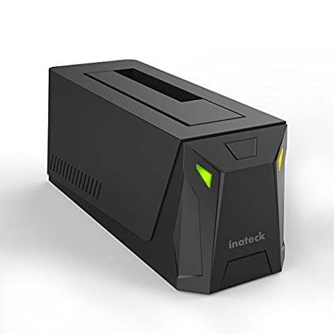 Inateck USB 3.0 to SATA Hard Drive Docking Station with Gamer Style for 2.5 Inch and 3.5 Inch SATA I/II/III HDD or SSD, Support UASP and 8 TB Drives, (10tb Usb Hard Drive)