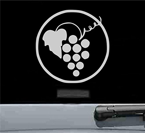 Wine grapes Vinyl Decal Sticker (SILVER) ()