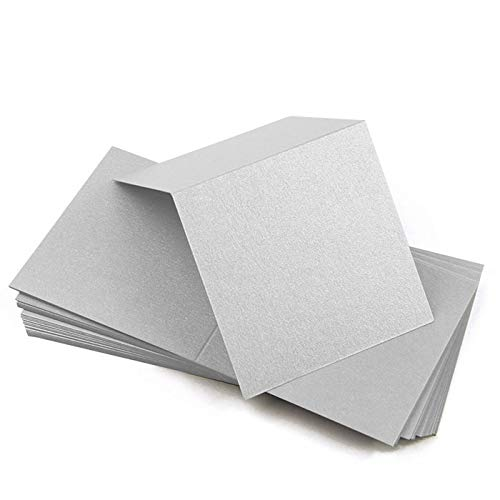 - 3x3 Square Metallic Blank Place Card - Stardream Silver, 25 Pack