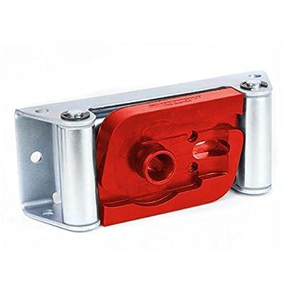Daystar KU71121RE Winch Isolator, Roller Fairlead, Red, Fits Smittybilt Roller Fairleads