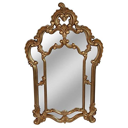 (Astoria Grand Arch Vertical Gold Resin Accent Mirror + Free Basic Design Concepts Expert Guide)
