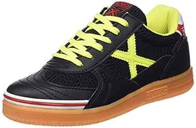 Munich G-3 Kid Indoor, Zapatillas de Deporte Unisex niño, (Negro/Amarillo 874), 33 EU