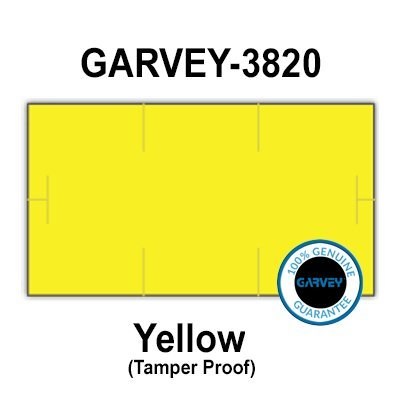 510,000 (2 Cases) GENUINE GARVEY 1910 Yellow General Purpose Labels: Tamper proof security cuts [compatible with Monarch Price Guns]