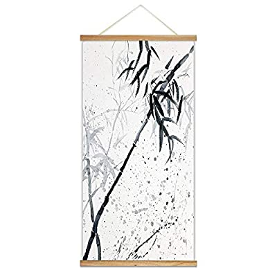 Classic Artwork, Delightful Piece of Art, Hanging Poster NO Magnetic Wooden Framed Ink Bamboo Painting Designs Home Wall