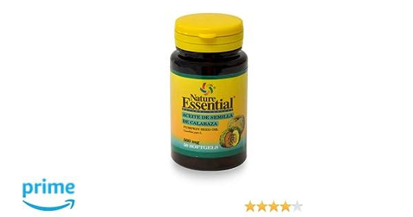 Aceite de semilla calabaza 500 mg. 50 perlas con vitamina E