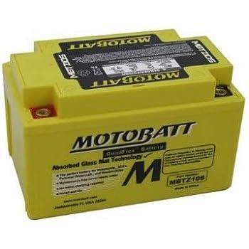motobatt mbtz10s 12v 8 6ah motorcycle battery replaces ytz10s automotive. Black Bedroom Furniture Sets. Home Design Ideas