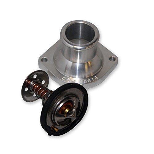 Billet Neck Water (CBM Motorsports - CBM-10613 Billet Water Neck + 160 Thermostat + Gasket LS1 LS2 LSX Pump Housing)