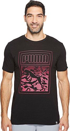 PUMA  Men's Archive Graphic Logo Tee Cotton Black T-Shirt