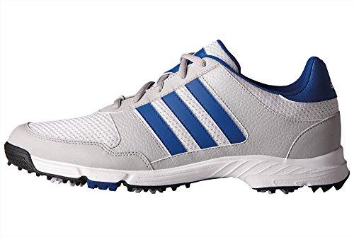 adidas Men's Tech Response Golf Shoe, White/Royal, 13 W US