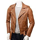 HI CLASS LEATHER Tan Stylish Leather Jacket for Men