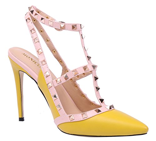 2015 Gelb Monicoco Vestir Pu Zapatos Mujer Para De ZdxqwfpT
