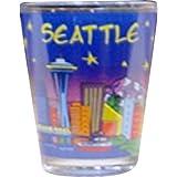 City of Seattle at Night, Skyline Souvenir Shot Glass